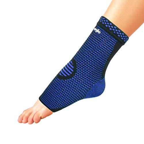 Meglio Knöchelbandage Fußgelenkbandage Kompressionssocken, für Schmerzlinderung, Achillessehne, Plantarfasciitis – Steigerung der Durchblutung – Unterstützung während Joggen