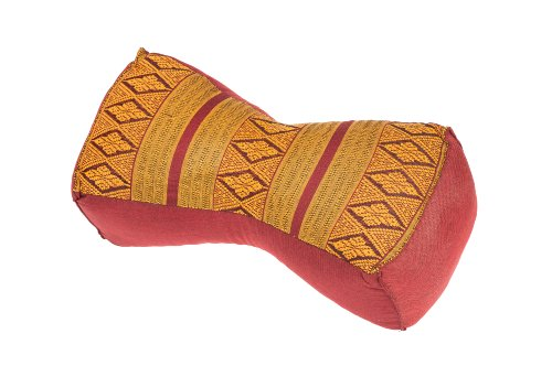 Handelsturm Coussin Chinois, Design Traditionnel Rouge/Bourgogne, Rembourrage 100% Kapok