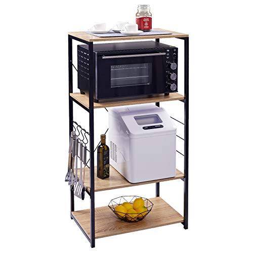 WOLTU Estantería de Cocina Estante para Microondas Estante de Baker Estante de...