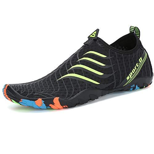 SAGUARO Scarpe da Scoglio Donna Uomo Scarpe da Spiaggia Scarpette da Surf Immersione Water Shoes per Mare e Sport Acquatici, Verde 43