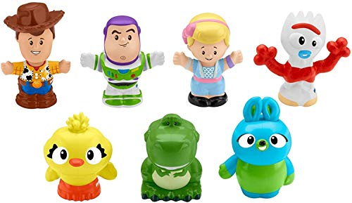 Fisher-Price Disney Toy Story 4, 7-Figure Pack by Little People [Amazon Exclusive]
