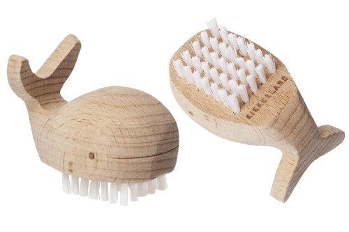 Kikkerland Nagelbürste Holzwal, nietlich und praktisch, Spaß für die Kinder