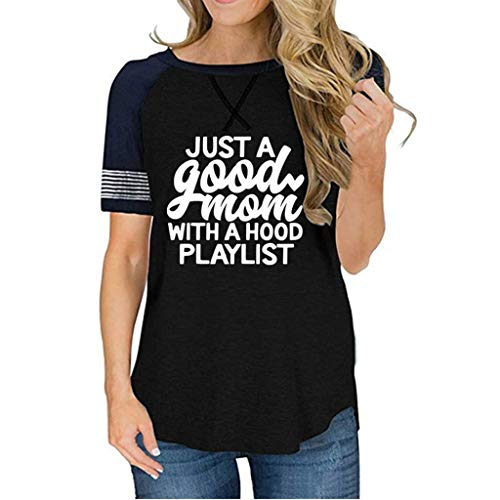 Kolila T-Shirts Bluse Damen Sommer Casual Kurzarmshirts Tops Frauen Rundhals Leopard Spleißen Brief Drucken Oberteile Pullover Tunika