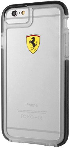 Ferrari FECI016 - Funda TPU para Apple iPhone 6/6s, Color Negro Transparente