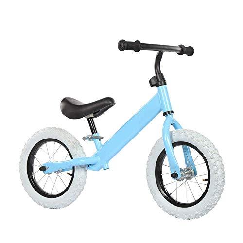 ZLXLX Training Auto Ridestar Balance Bike voor Jongen Meisje, 12 inch Wielen, Peuter Walking Training Fiets, In hoogte verstelbaar, Puncture Proof Banden, Roze Blauw