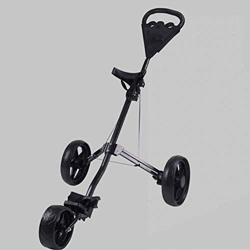 Golftrolley Golfwagen 3-Rad-Golf Push-Trolley, Leichtklapp Push-Pull-Caddy Cart, Kleinster Klapp Leichte Golf Cart