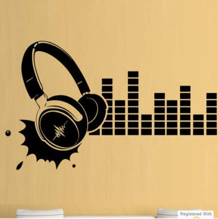 Luotears Kopfhörer Musikstudio Cool DJ Boys Wandkunst Aufkleber Decals Vinyl Home Room Boy Schlafzimmer Wandaufkleber Dekoration