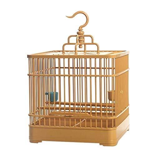 Liutao Nestkasten, montage-vogelkooi met voer- en drinkbak, klein huisdier, vogel, complete set van kunststof, vogelhuis-smoor-pastameienkooi, 23 x 23 x 22 cm, duurzaam nestbakken