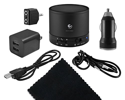 Ematic Portable iPad Kit - Car Charger, Wall Charger, Audio Output Cables, Wireless Speaker