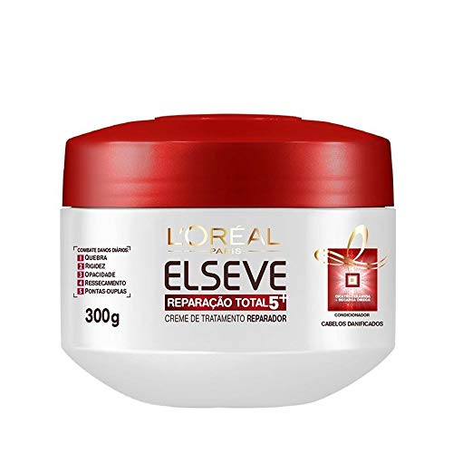 Creme de Tratamento Reparação Total 5+ Elseve L'Oréal Paris 300 gr, L'Oréal Paris