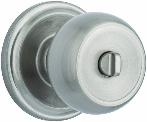 Cheapest Price! Brinks Push Pull Rotate Door Locks Stafford Privacy Bed/Bath Knob, Satin Nickel, 230...