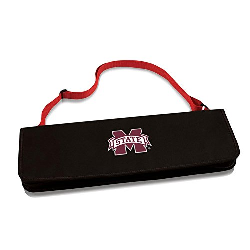 Best Review Of NCAA Mississippi State Bulldogs Metro 3-Piece BBQ Tool Set in Carry Case
