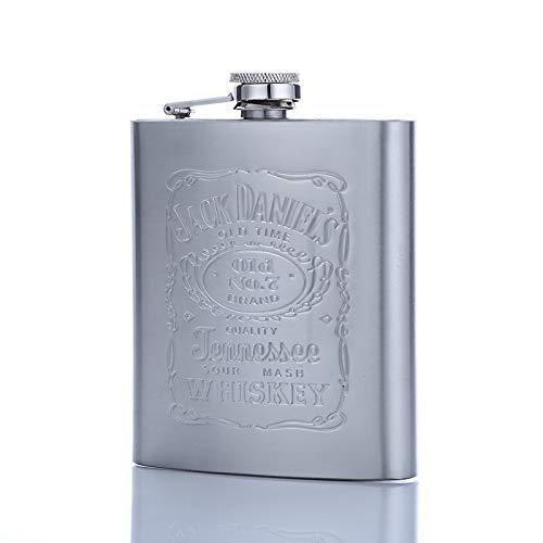 Petacas Olla de vino de acero inoxidable de la PU de la cadera de superficie de piel matraz de whisky portátil de viaje botella de alcohol de la botella de licor Pequeño mini botella Petaca Acero Inox
