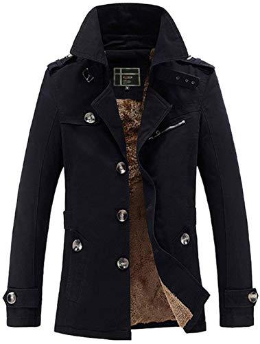Heren Plus SAMT warme dikke mantel katoen windjack Moderne nonchalante klassieke solide tactische jas oversize vrije tijd outdoor militair outdoor outdoor
