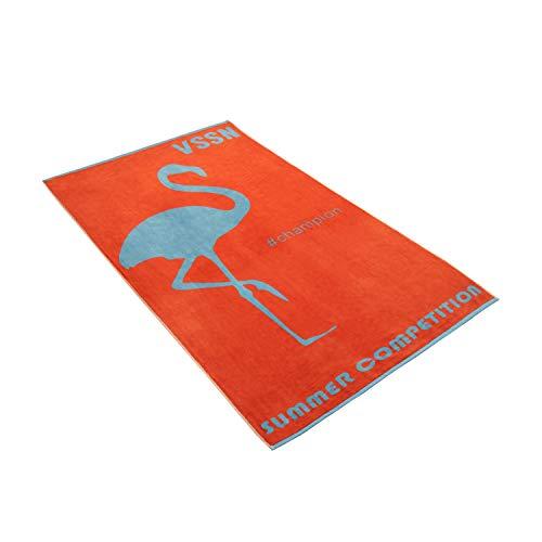 Vossen Strandtuch Miss Flamingo Flesh red, 100 x 180 cm
