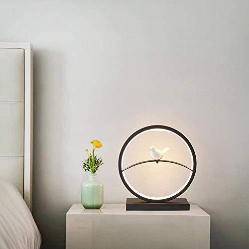 DEJ moderne, Scandinavische, minimalistische, porseleinen vogel Led Bureau Lamp, Led Nachtlampje met Hollowed-Out Design, Acryl Made Lamp Body, Dimschakelaar voor Slaapkamer