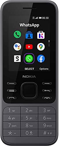 Nokia 6300 Telefono Cellulare 4G Dual Sim, Display 2.4  a Colori, 4GB, Bluetooth, Fotocamera, Whatsapp, Grigio Carbone [Italia]