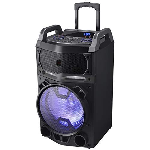 Aiwa KBTUS-700 The Thunder Lautsprecher mit Bluetooth, 2 x kabelloses Mikrofon, Fernbedienung