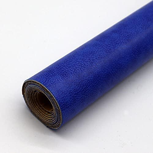 Kit de Parche de Piel,Parches de Piel Cuero Artificial, para Sofá Asientos de Coche Pegatina de Reparación de Polipiel Parches azul real 50X137CM