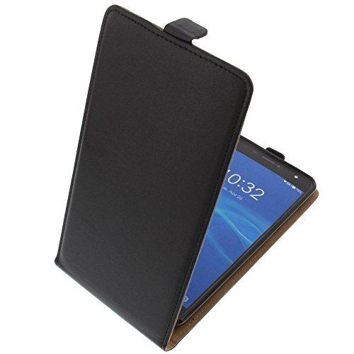 foto-kontor Funda para Doogee X7 Pro X7 Protectora Tipo Flip para móvil Negra
