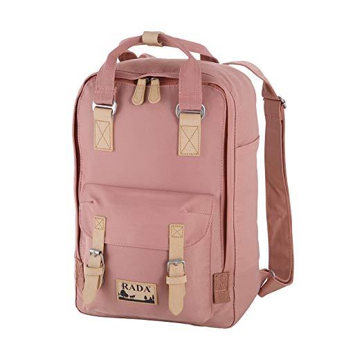 Rada RS/52 Rucksack mit Laptopfach 13 Zoll Notebook für Damen & Herren, moderner Schulrucksack, Daypack für Mädchen und Jungen Outdoor Sport (Peach)