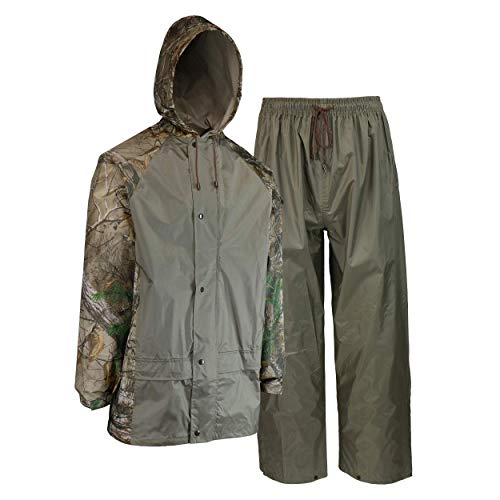 Realtree West Chester Jacke und Hose Regen Anzug, L, camouflage, 1