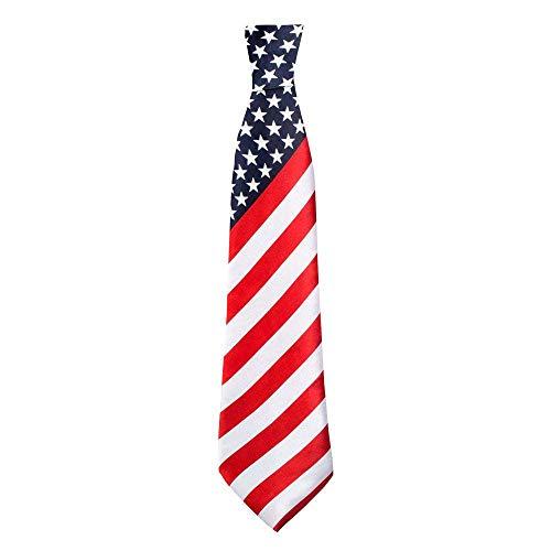 Boland BOL44961 Corbata de Colores de la Bandera de Estados Unidos, Adulto, Multicolor, Talla única