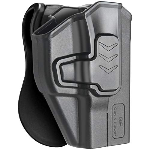 """M&P Shield 9mm Holster, OWB Holster for Smith & Wesson M&P Shield 9mm .40 3.1"""" Barrel, Index Finger Release, Durable Polymer, Paddle Holsters Fit Shield M2.0-9mm/.40(3.1"""" Barrel), Right Hand"""