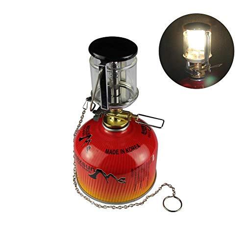 Preisvergleich Produktbild soundwinds Tragbare Camping-Laterne Gas-Lampen,  Mini-Zelt-Lampe,  Hängelampe,  Glaslampe mit hängendem Kamin,  leichte Camping-Lichter für Zelte,  Outdoor,  Angeln,  Wandern,  Camping