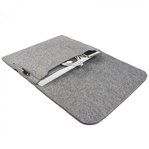 eFabrik Hülle für Odys Evolution 12 (11,6 Zoll) Notebook Schutz Tasche Laptop Hülle Soft Cover Schutzhülle Sleeve Filz hell grau