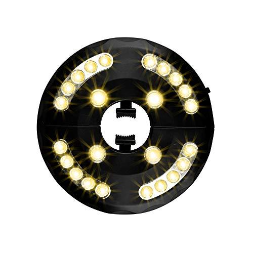 Usmascot - Lampe pour Parasol de Jardin, Patio Umbrella Light, 24 LED, 3 Model d'illumination, Lumineux de Parasol pour Terrasse, Jardin, Grand Parapluie (Lumière Chaude)