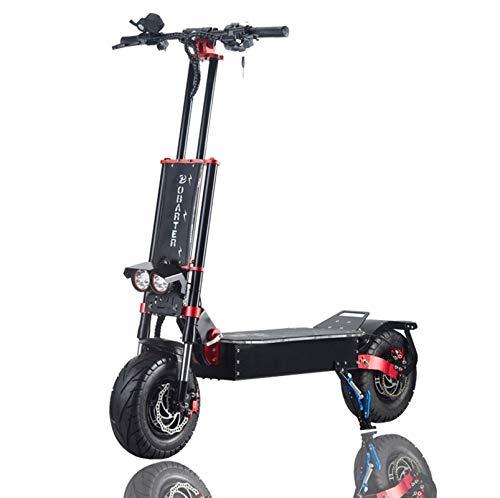 Lamtwheel Patinete eléctrico Todoterreno 85km/h 1600W Doble Motor Scooter Eléctrico Plegable, Freno de Disco de Aceite y Amortiguador de Aceite, Batería 30Ah - Neumáticos Off-Road de 13 Pulgadas