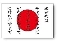 わーるどくらふと 君が代+日本国旗 マグネット シート Lサイズ 10×15cm