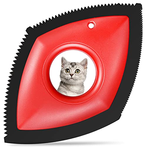 cat hair remover furnitures YARENKA Mini Pet Hair Remover for Couch/Car Detailering Dog Hair Remover Cat Hair Remover - Professional Hair Removal Tool Fur Removal Brush for Home Fabric, Furniture, Couch or Carpet (Red)