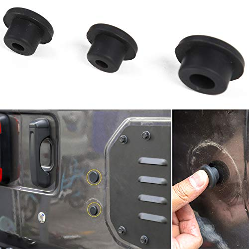 Voodonala Rubber Tailgate Plugs Sets for Jeep Wrangler 2018 JL JLU for Removed Tire Carrier Bumper Anti-dust Waterproof