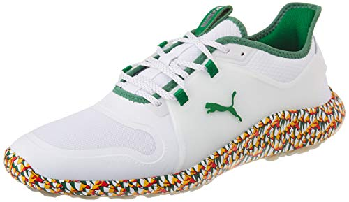 PUMA 194811, Chaussure de Golf Homme, White Amazon Green, 39 EU