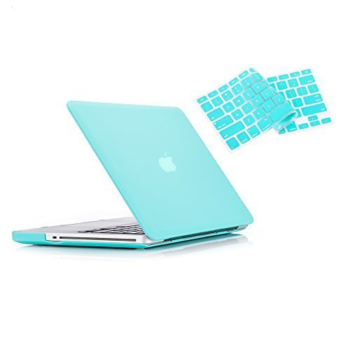 MacBook Pro 13 Case 2012 2011 2010 2009 Release A1278, Ruban Hard Case Shell Cover and Keyboard Skin Cover for Apple MacBook Pro 13 Inch with CD-ROM - Turquoise