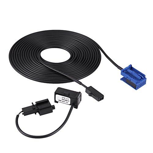 Qiilu Bluetooth Microphone Faisceau Câble Kit pour 307 308 C4 C3 C5 RD45 Lecteur CD