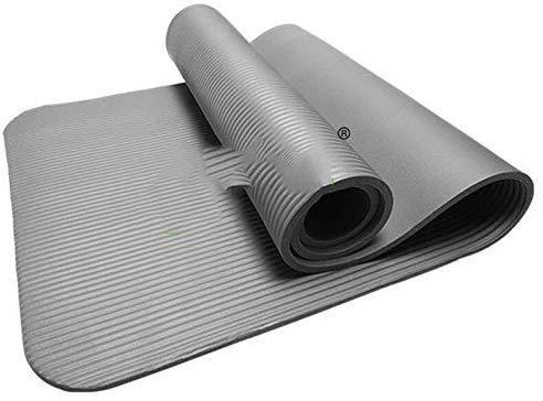KaiKai Tappetino Fitness Yoga Mat Tempo Libero 10 Millimetri NBR Slittamento allargando Sempre più i Principianti 80 Allungato Spessa coltre Verde insapore (Colore: Blu) (Color : Black)