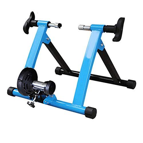 YYDE Stand de Bicyclette de vélos, Fluide intérieur Turbo Turbo Bike Trainer Trainer Vélo Trainer Intérieur Maison Equitation Training Vélo Stand de vélo,Bleu,28~29in