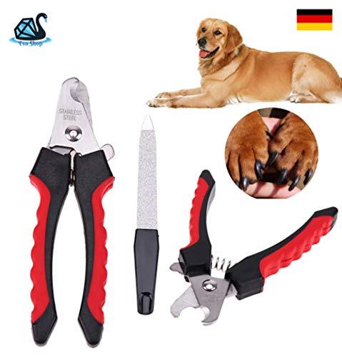Eva Shop® Professional Premium klauwtang incl. vijl voor honden, katten met roestvrij stalen precisiemessen - klauwschaar hond, kat, konijnen, cavia's, Chinchilla en nog veel meer. Verzending door Duits merk