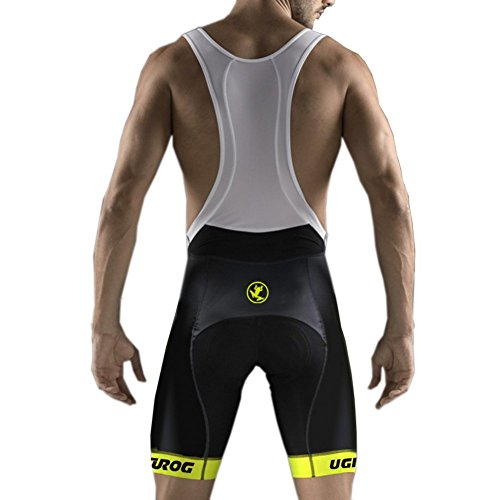 Uglyfrog Cuissards Cyclisme Bib Short Endurance Été Rembourré Pantalons de Cycliste Respirant Séchage Rapide Homme DKMZ02