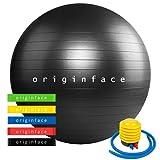 palla fitness da ginnastica 55 cm yoga fitball anti-scoppio e scivolo palla svizzera palla equilibrio stabilità per pilates esercizi palestra casa fisioterapia con pompa rapida e 5 elastici