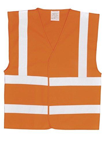 Portwest C470 vest zonder mouwen, hoge zichtbaarheid, 2 strepen en reflecterende bandjes, XXL/XXXL, oranje