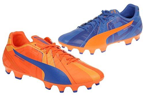 Puma Fußballschuhe evoSPEED 4 H2H FG Fußball Herren orange blau, Schuhgröße:EUR 44