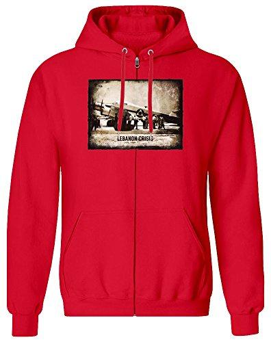 Harma Art Libanon-Krise - Lebanon Crisis Zipper Hoodie Jumper Pullover for Men 100% Soft Cotton Mens Clothing Small