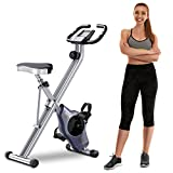 BCAN Folding Exercise Bike-Stationary Bike Foldable with Magnetic Resistance,Pulse Monitor and Comfortable Seat from BCAN