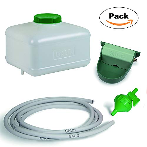 FINCA CASAREJO Kit Bebedero Grande automático para Animales, gallinas, Perros, faisanes y Aves de Corral con depósito de 10 litros.
