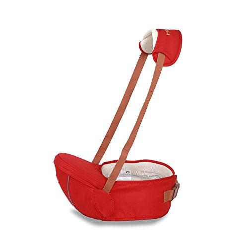 SONARIN Portabebés Premium Hipseat Baby Carrier, Seguro y Cómodo, Tamaño Gratuito, Cinturón Frontal, 4 Posiciones de Carrying,100% GARANTIA y ENTREGA GRATUITA, Regalo Ideal(Rojo Oscuro)
