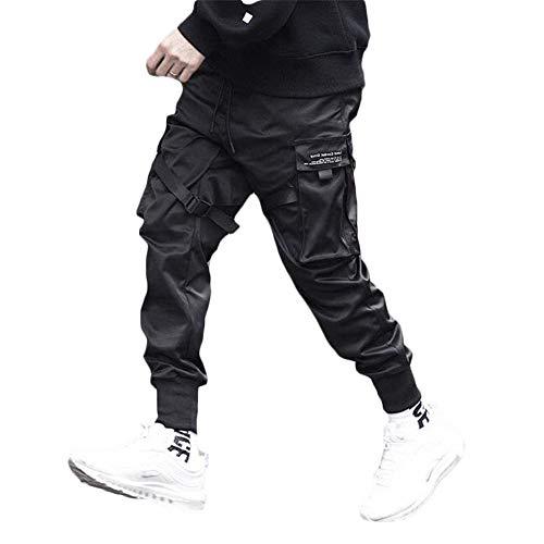 Tasty Life Pantaloni da Jogging da Uomo Harlan Modelli Esplosione Primavera Pantaloni Hip Hop Pantaloni Sportivi Multi-Tasca Neri da Uomo Casual Street (M, black1)